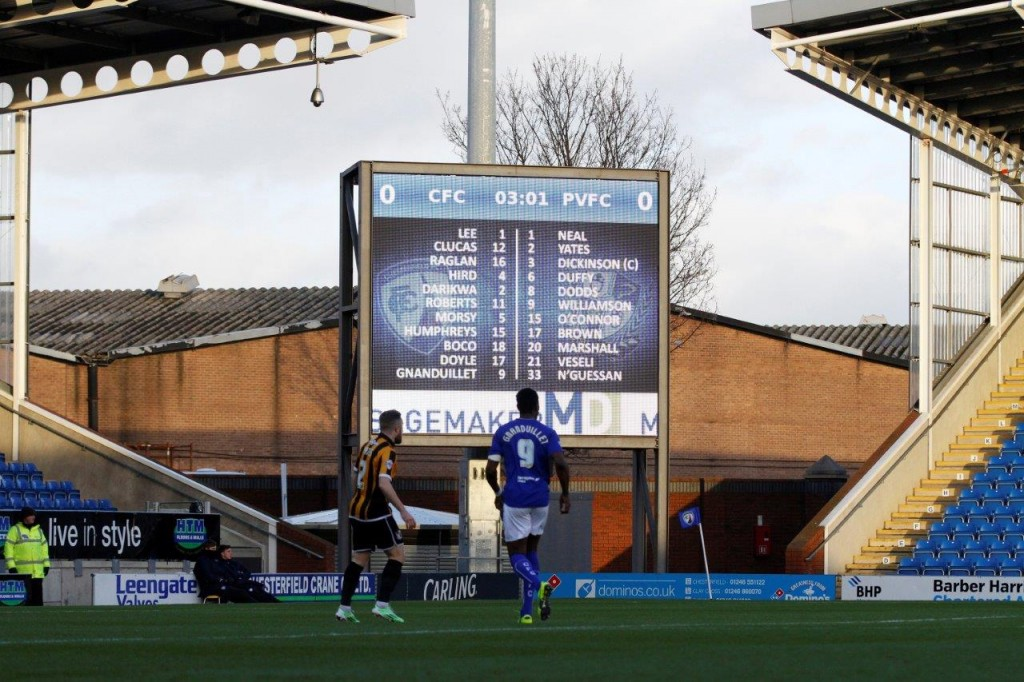 chesterfield FC big video screen